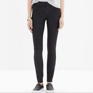 Madewell •Skinny Skinny Black Coated Legging Pant